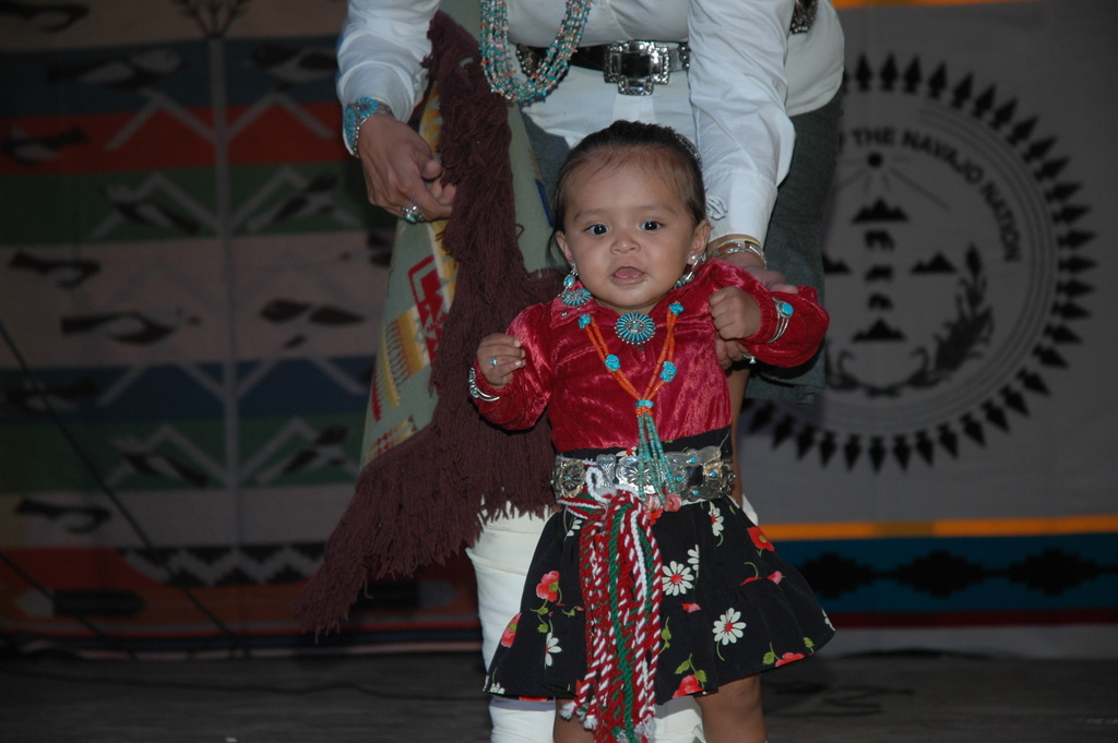 Cute Navajo Baby In Traditional Dress