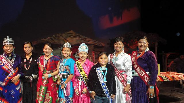 Royalty at Miss Northern Navajo Pageant 8