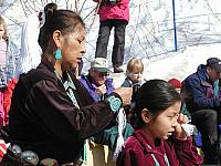 Navajo Child and Mother at 2002 Winter Olympics in Utah