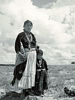Navajo Woman And Child Out In Navajoland